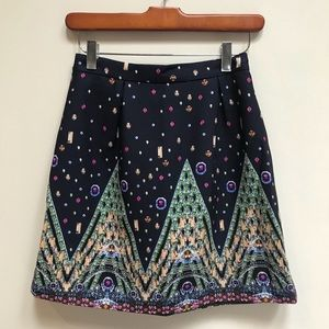 Chicwish Jewel Tones Skirt - S